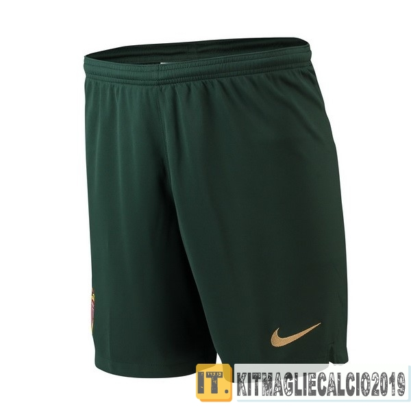 Negozi Online Calcio Nike Away Pantaloncini AS Monaco 18-19 Verde