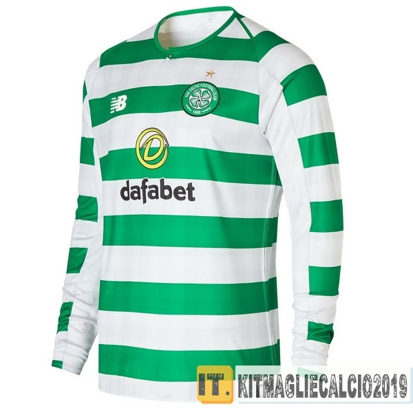 Negozi Online Calcio New Balance Home Manica Lunga Celtic 18-19 Verde