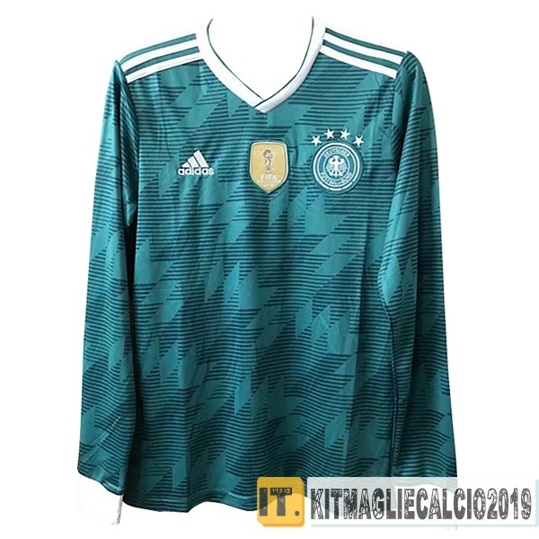 Negozi Online Calcio adidas Away Manica Lunga Germania 2018 Verde