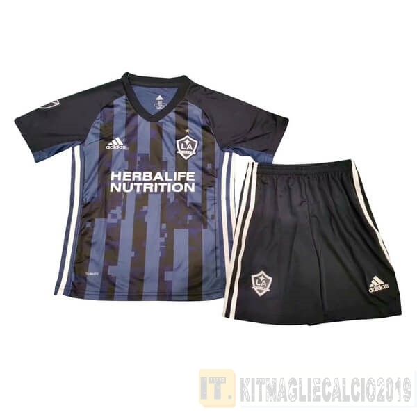 Negozi Online Calcio Adidas Away Set Completo Bambino Los Angeles Galaxy 2019 2020 Blu