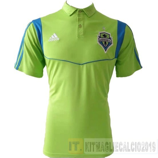 Negozi Online Calcio Adidas Polo Seattle Sounders 2019 2020 Verde Fluorescente