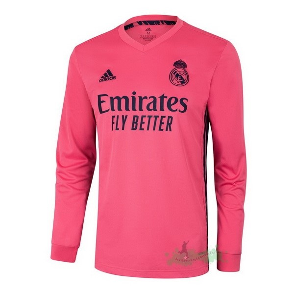 Negozi Online Calcio adidas Away Manica lunga Real Madrid 2020 2021 Rosa